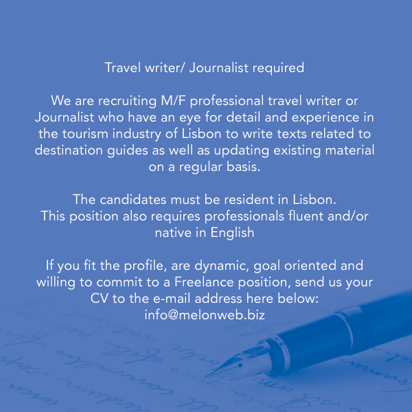 Lisbon Travel Writer Needed